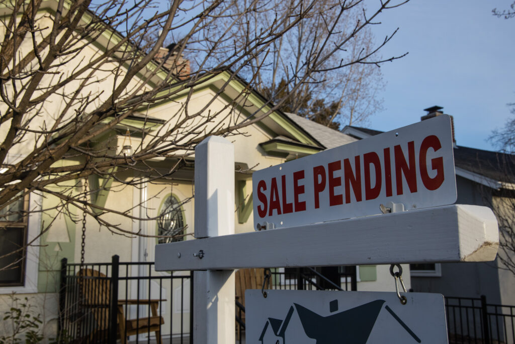 A house for sale in the North End of Boise on March 21, 2021.