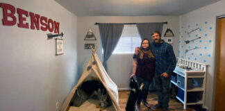 KC Hunt, right, and his fiancée, Alissia, spent five hours preparing and decorating a nursery in their rented Boise Bench home in preparation for their baby boy's arrival in July. The couple recently received an email from their property management company giving them 30 days to find another place to live. They're among hundreds of Idahoans facing eviction during the pandemic and explosive population growth in Idaho.