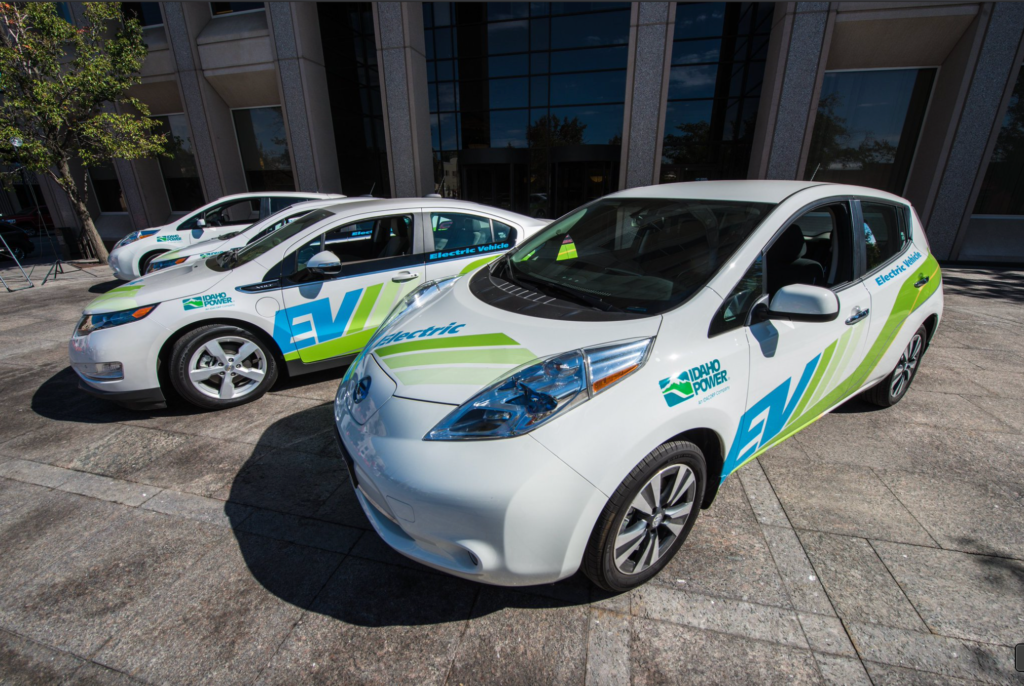 Idaho Power has several electric vehicles in its fleet, including passenger cars, hybrid-electric trucks and electric utility vehicles.