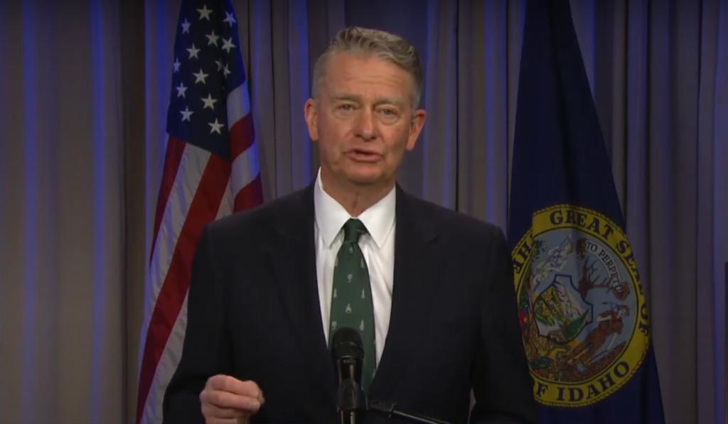 Idaho Gov. Brad Little announces a ban on state involvement in vaccine passports