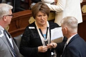 Idaho legislators talk without masks or distancing