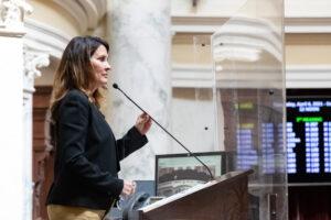 Lt. Gov. Janice McGeachin presides over the Idaho Senate.