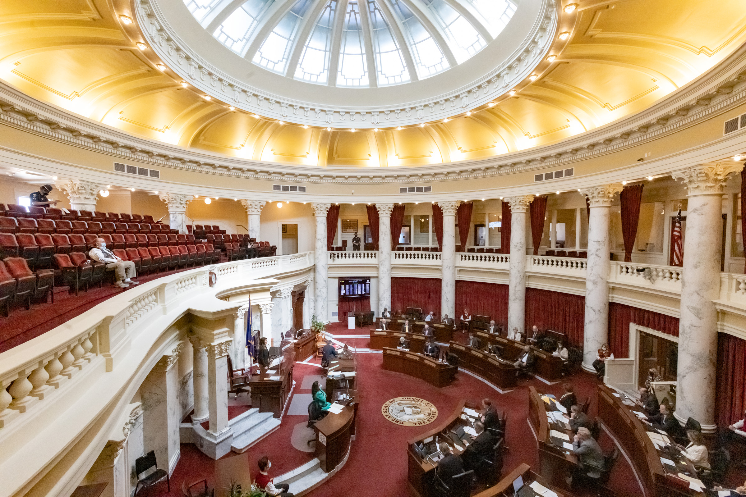 The Senate in session at the Idaho Capitol on April 6, 2021.