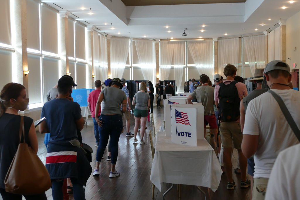 Long lines during Georgia's June 9 primary were in part attributed to experienced older poll workers backing out due to coronavirus worries.