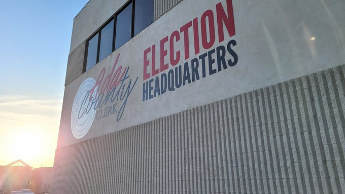 The Ada County Elections Office is located at 400 N. Benjamin Lane, Suite 100 in Boise.