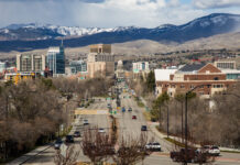 Downtown Boise as seen from the Boise Depot