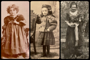 Photos of Margaret Ertter as a child and adult
