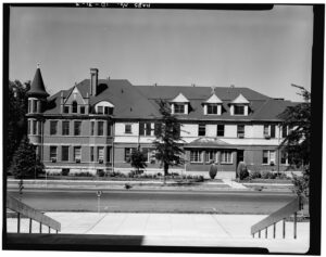 The old Saint Alphonsus Hospital in downtown Boise