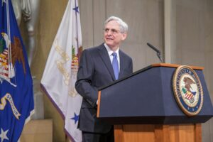 U.S. Attorney General Merrick Garland on his first day leading the Department of Justice in March 2021