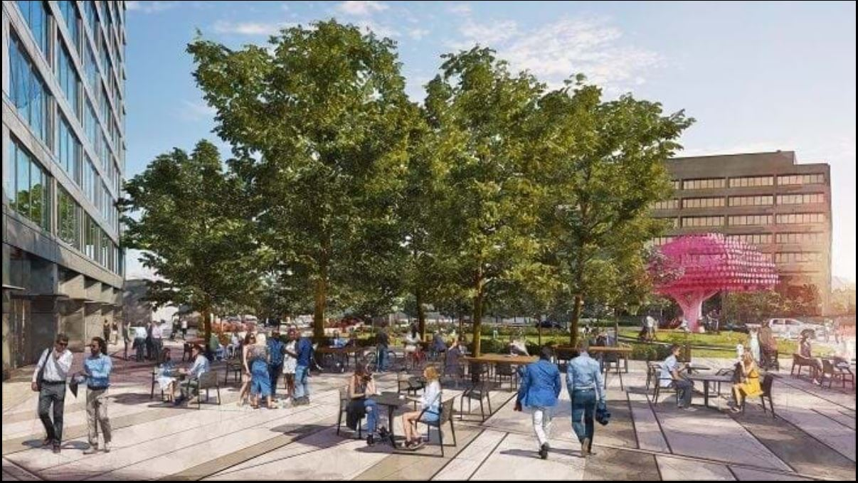 Downtown Boise park rendering