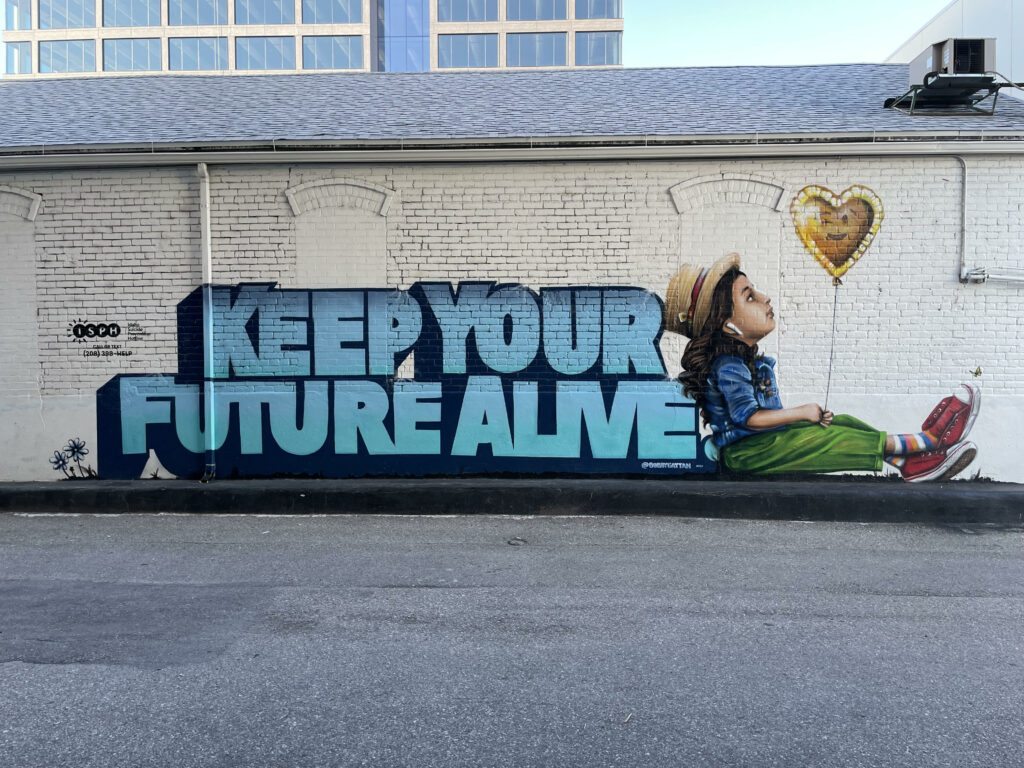 Idaho Suicide Prevention Hotline mural in Boise