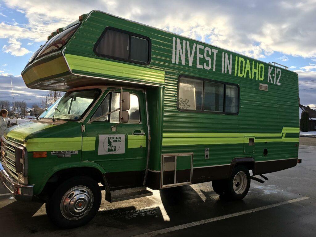 Reclaim Idaho education mobile