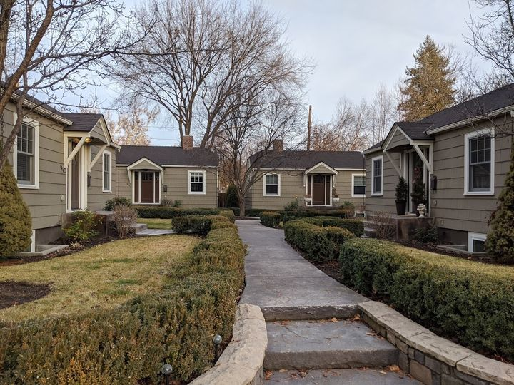 Bungalow court in the North End of Boise