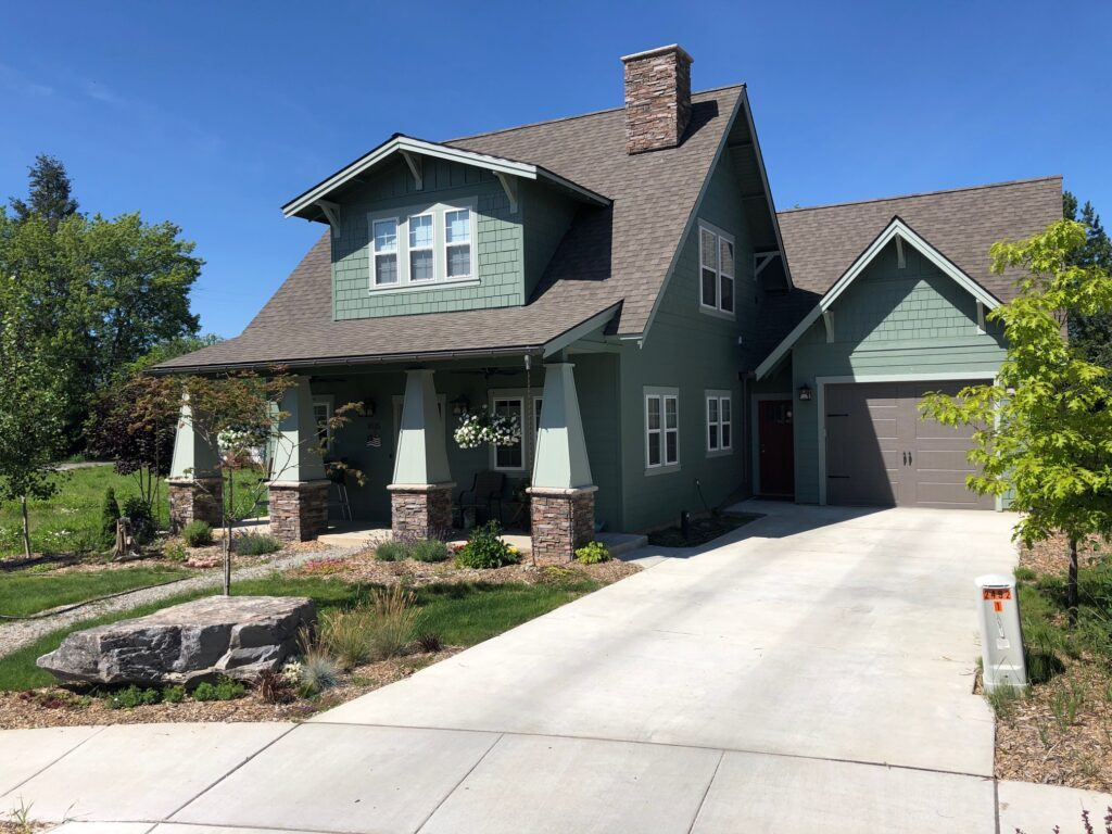 A model home in Sandpoint