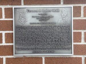 Vernon Baker plaque at Gowen Field
