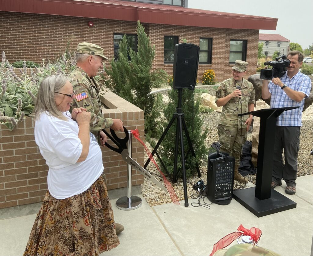 ribbon cutting ceremony at Gowen Field