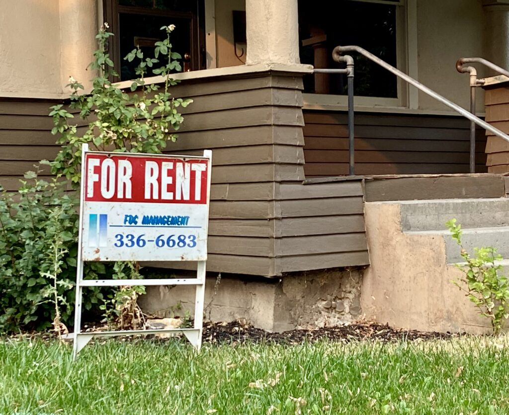 For rent sign in Boise