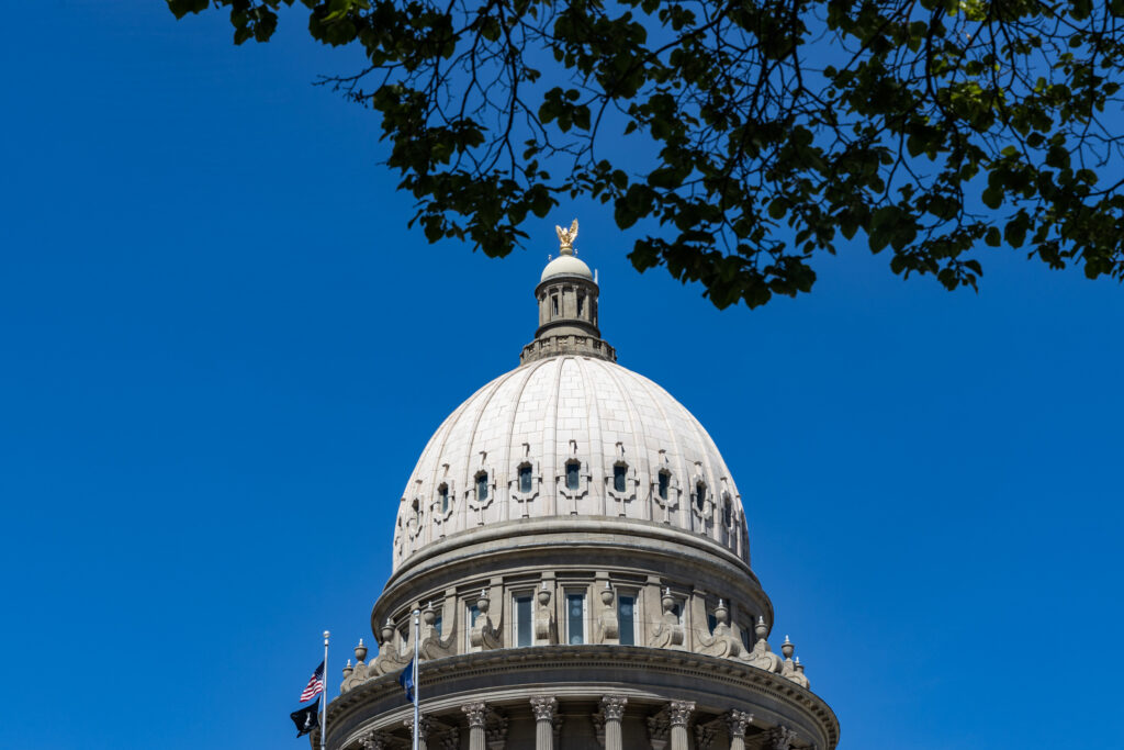 Idaho State Capitol building's dome