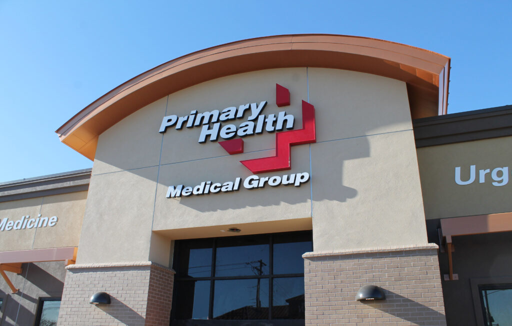 Photo of the front of a Primary Health Medical Group clinic