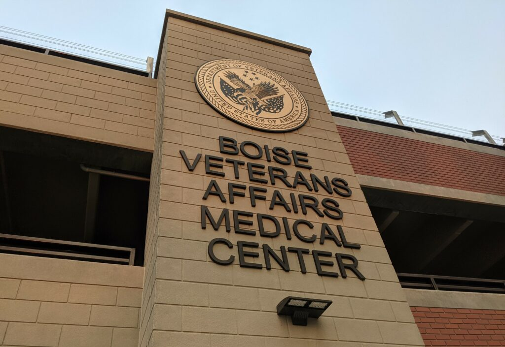 Photo of a sign a the Boise VA Medical Center