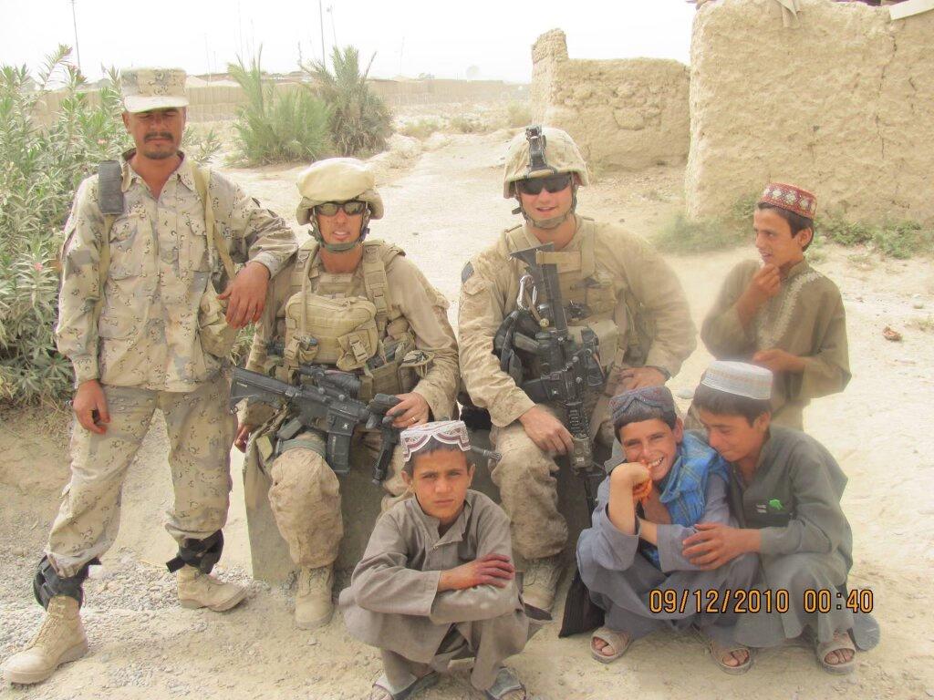 U.S. Marine Robert Holmes in Afghanistan