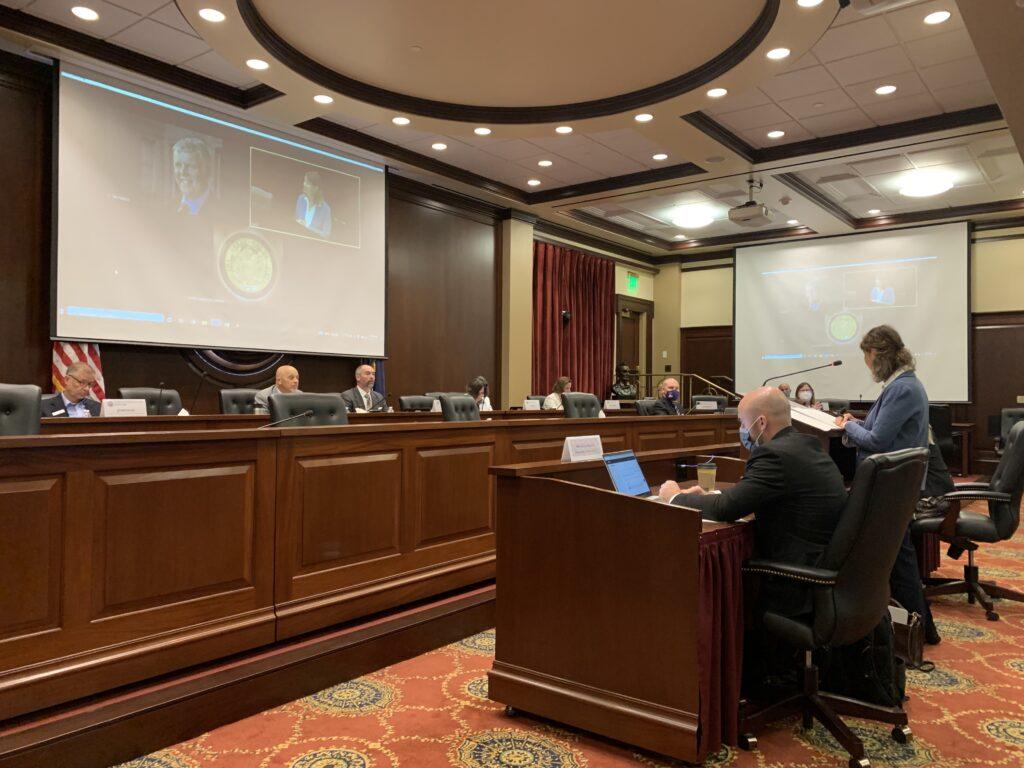 Legislative interim committee meets at the Idaho Capitol