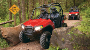 Photo: ock barriers or steel posts at trailheads alert riders that 50-inch ATV trails are meant for only 50-inch trail machines – narrow side by sides and ATVs.
