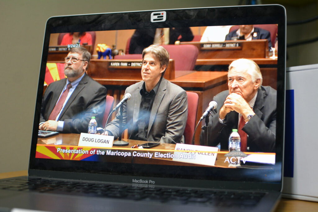 audit team presents before Arizona Senate