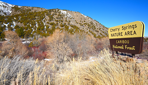 Cherry Springs Day Use Area sign